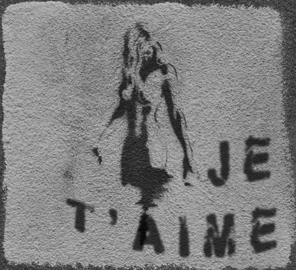 Je T'aime Graffiti Poster