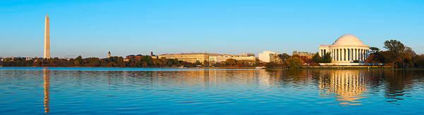 Jefferson Memorial And Washington Poster