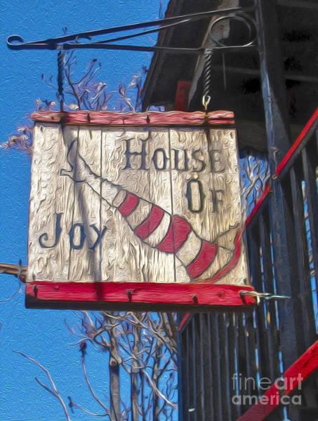 Jerome Arizona - House Of  Joy - Whorehouse Sign Poster