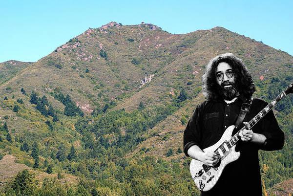 Jerry Garcia And Mount Tamalpais Poster