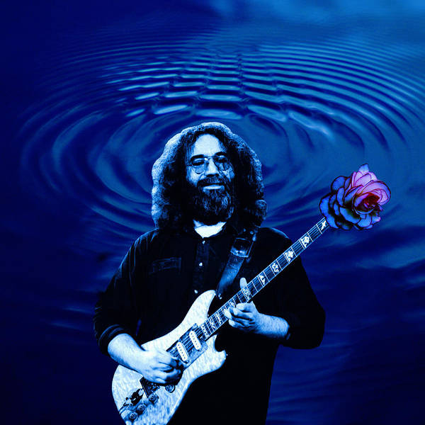 Blue Ripple Rose Poster