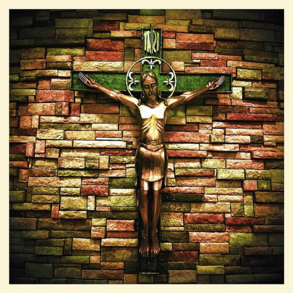 Jesus Is His Name Cream Border Poster