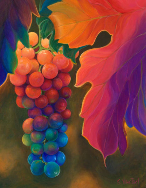 Poster featuring the painting Jewels Of The Vine by Sandi Whetzel