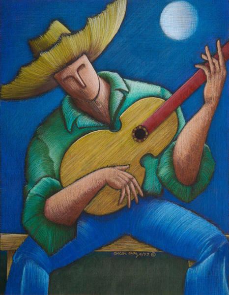 Poster featuring the painting Jibaro Bajo La Luna by Oscar Ortiz