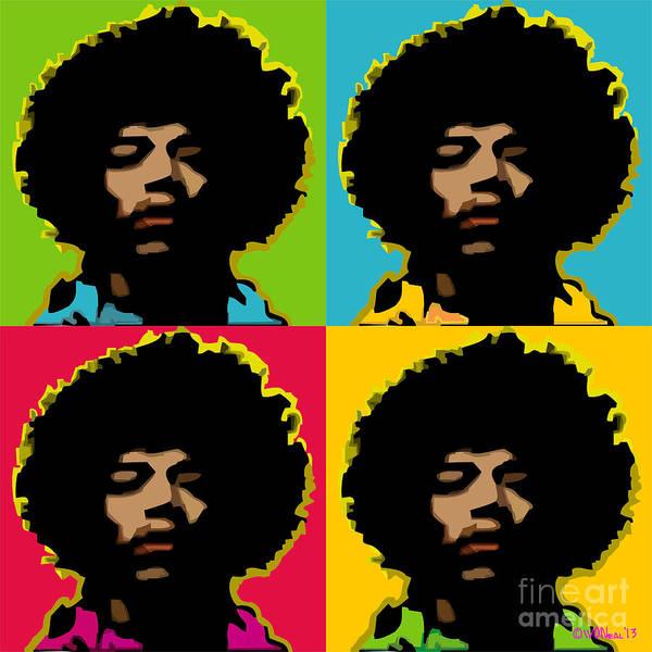 Jimi Hendrix 4-up Poster