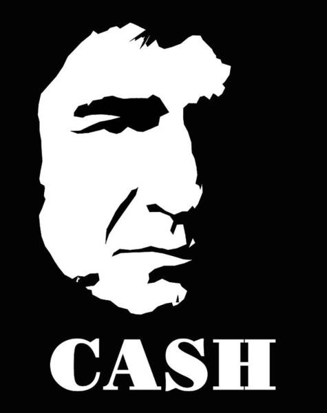Johnny Cash Black And White Pop Art Poster