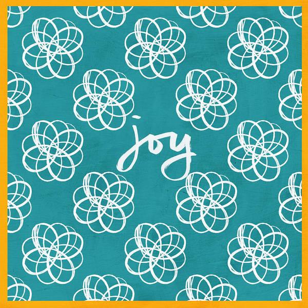 Joy Boho Floral Print Poster