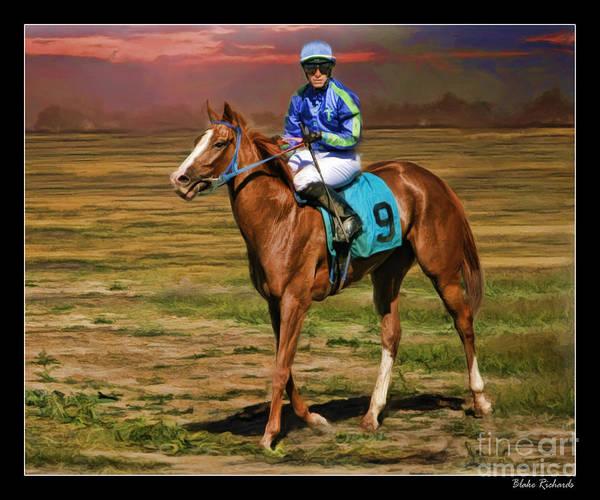 Juan Hermandez On Horse Atticus Ghost Poster