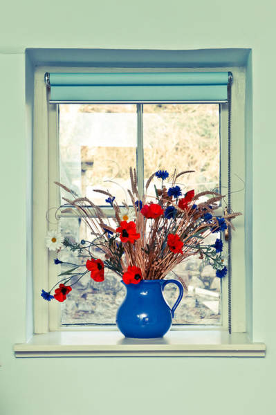 Jug Of Flowers Poster