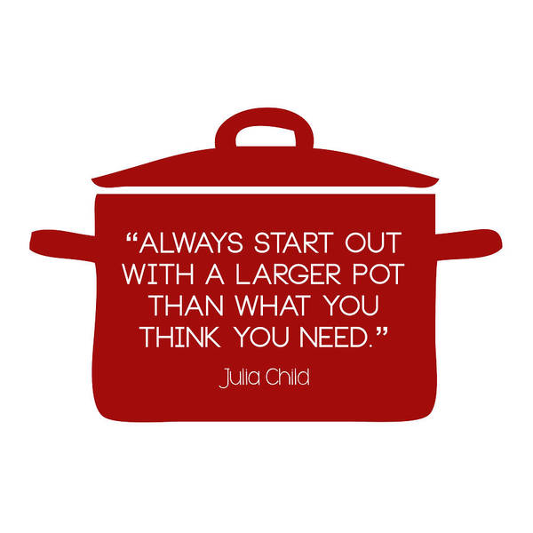 Julia Child's Larger Pot Poster