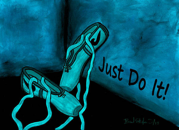 Just Do It - Blue Poster