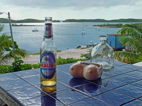 Kalik Beer Bottle At The Front Porch Poster