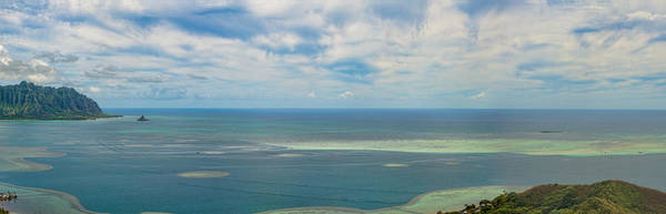 Kaneohe Sandbar Panorama Poster