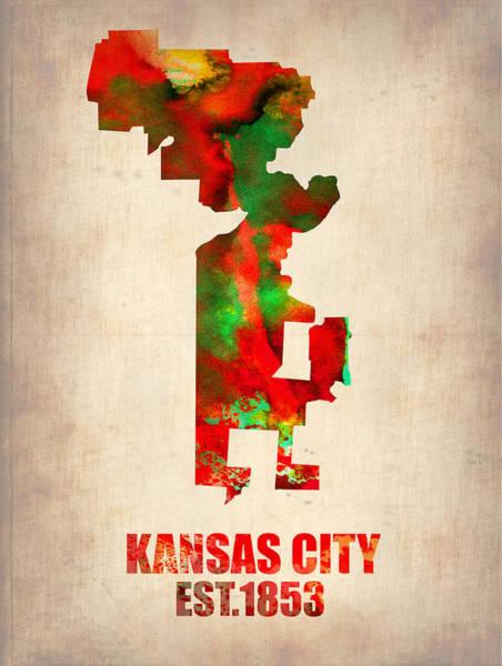 Kansas City Watercolor Map Poster