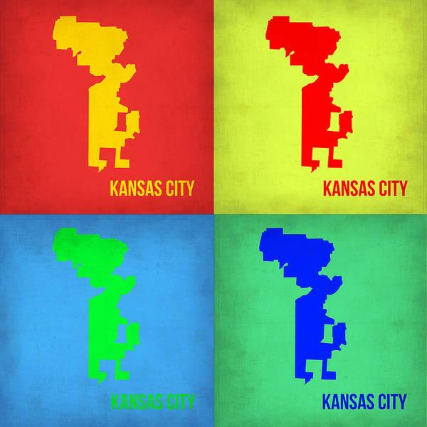 Kansas Pop Art Map 1 Poster