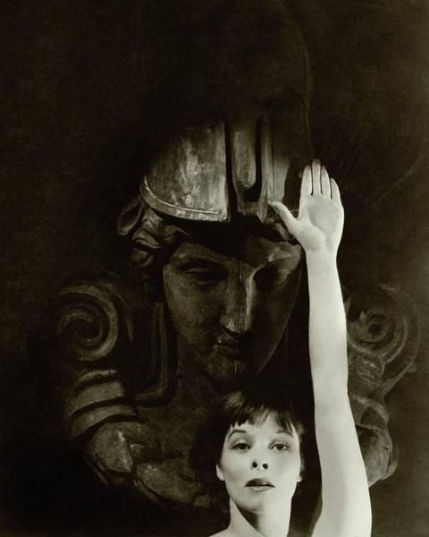 Katharine Hepburn Raising Her Hand Poster