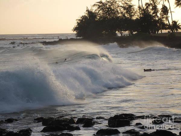 Kauai - Brenecke Beach Surf Poster