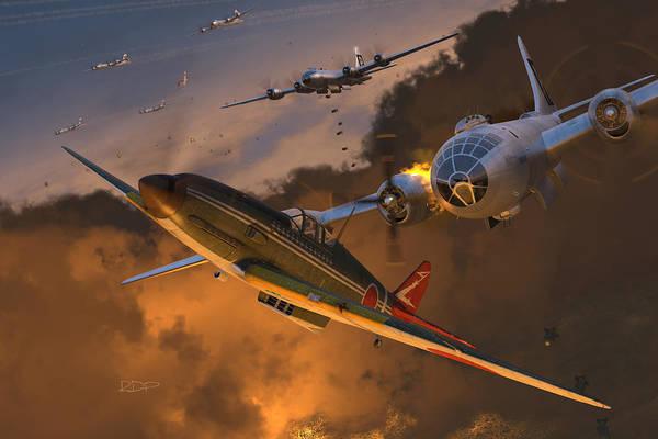 Ki-61 Hien Vs. B-29s Poster