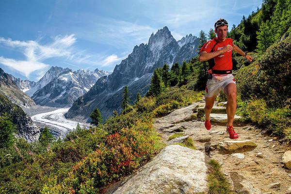 Kilian Jornet Training Above Montenvers Poster