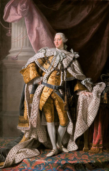 King George IIi In Coronation Robes Poster