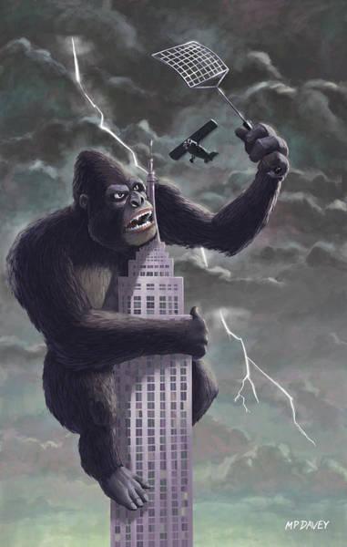 King Kong Plane Swatter Poster