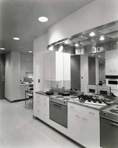 Kitchen With Two Ranges Poster