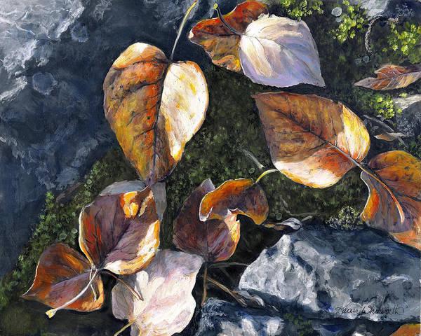 Knik River Autumn Leaves Poster