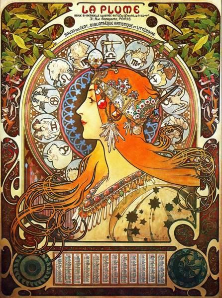 La Plume Zodiac Poster