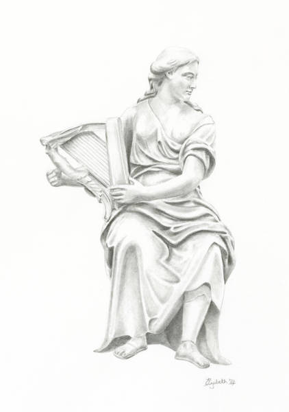 Lady With Harp II Poster