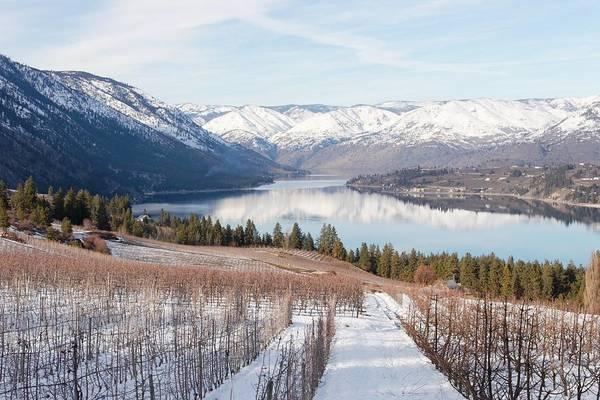 Lake Chelan In Winter Poster