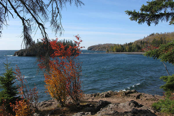 Lake Superior In The Fall Poster