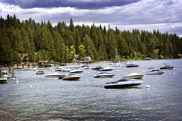 Poster featuring the photograph Lake Tahoe Boats by William Havle