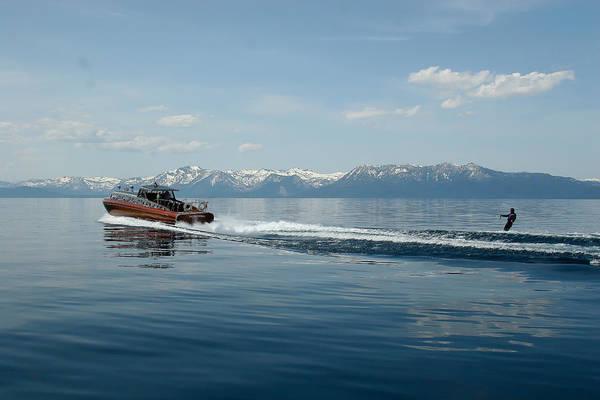 Lake Tahoe Waterskiing Poster