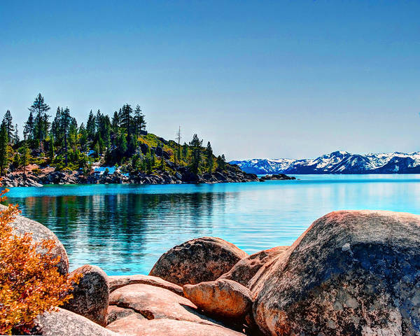 Poster featuring the photograph Lake Tahoe Winter Calm by William Havle