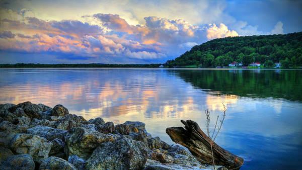 Lake White Sundown Poster
