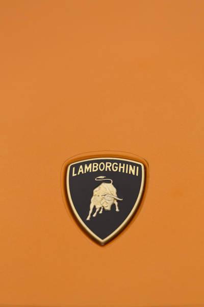 Lambo Hood Ornament Orange Poster