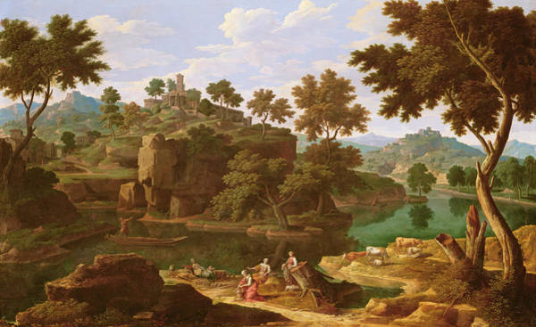 Landscape With A River Oil On Canvas Poster