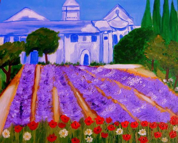 Lavande A St Paul De Mausole  St Remy De Provence Poster