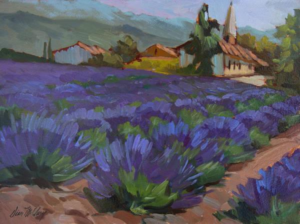 Lavandin En Fleur Poster