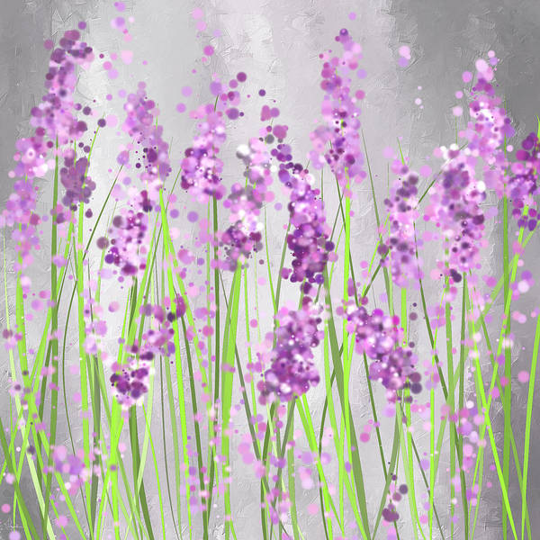 Lavender Blossoms - Lavender Field Painting Poster