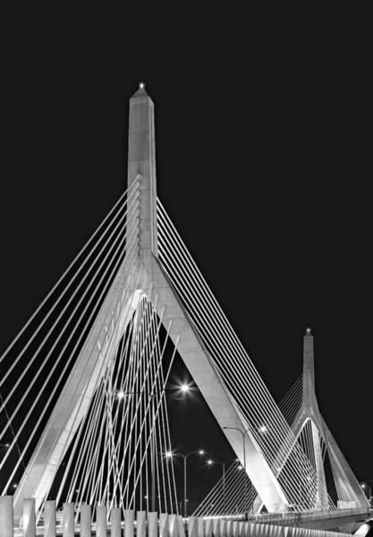 Leonard P. Zakim Bunker Hill Memorial Bridge Bw II Poster