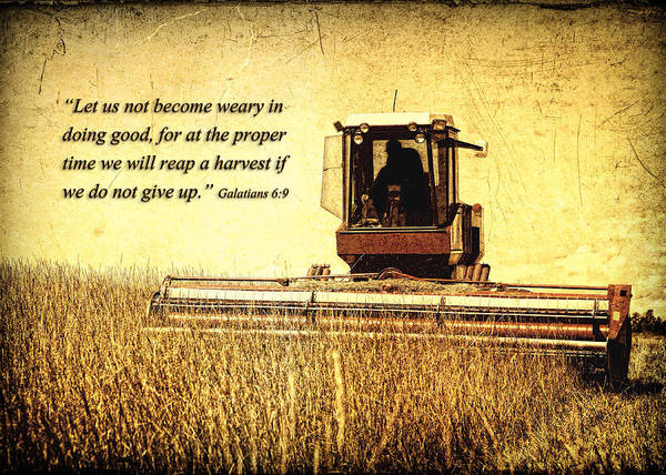 Let Us Not Become Weary Poster