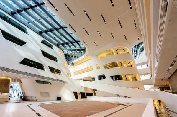 Library Interior 2  Zaha Hadid Wu Campus Vienna  Poster
