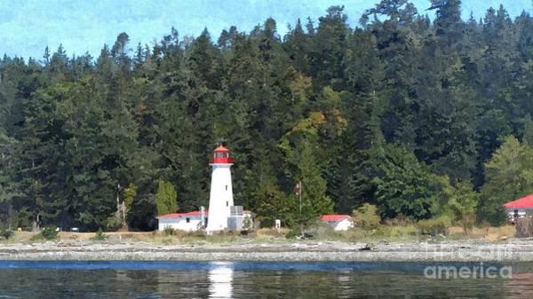 Lighthouse On Quadra Island Poster