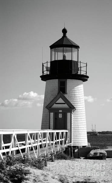 Lighthouse On Nantucket Bw Poster