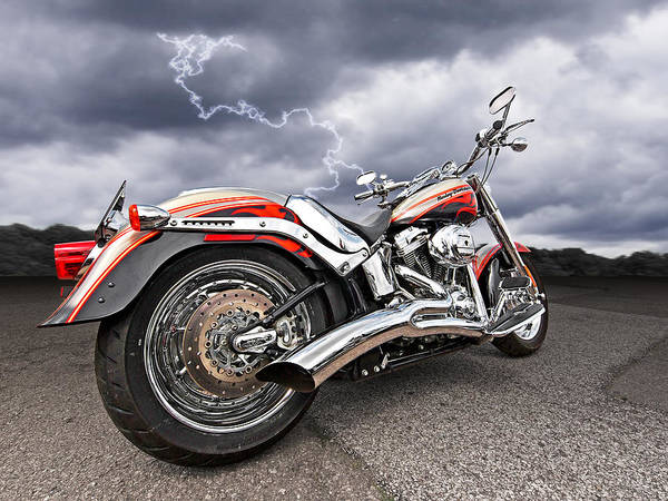 Lightning Fast - Screamin' Eagle Harley Poster