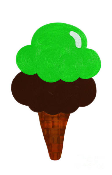 Lime And Chocolate Ice Cream Poster