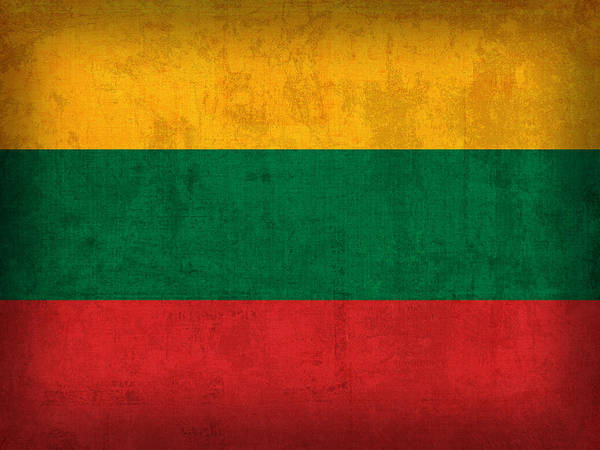 Lithuania Flag Vintage Distressed Finish Poster