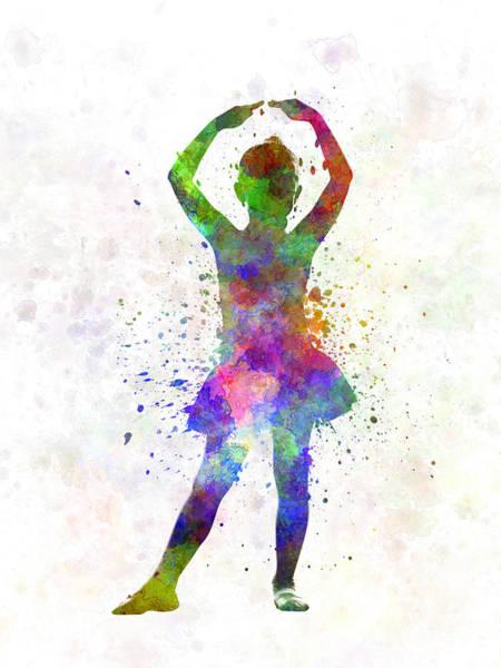 Little Girl Ballerina Ballet Dancer Dancing Poster