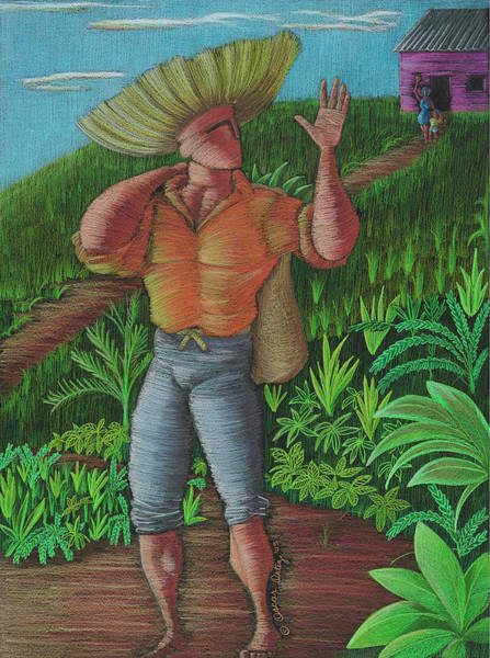 Poster featuring the painting Loco De Contento by Oscar Ortiz
